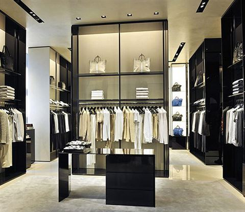 High end men 39 s clothing display furniture clothing for High end men s dress shirts