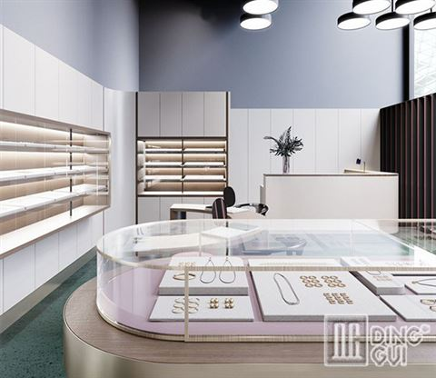 Modern Classic Design Jewelry Shop Display Cabinets