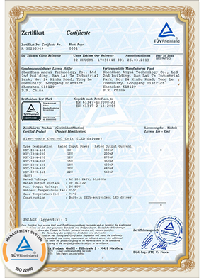 tuv certifivate