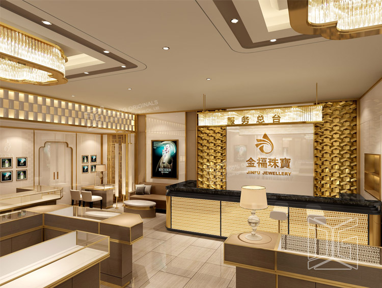 All kinds of jewelry diplay cabinet dinggui furniture jewelry stores interior design Home design golden city furniture