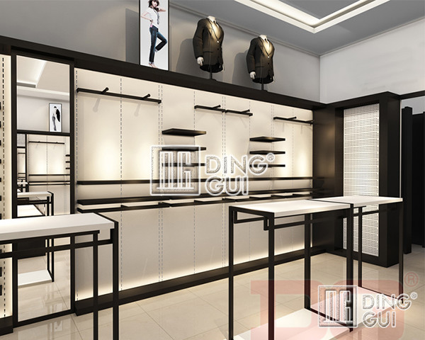 High end excellent quality wholesale wooden clothes shop for High end furniture shops