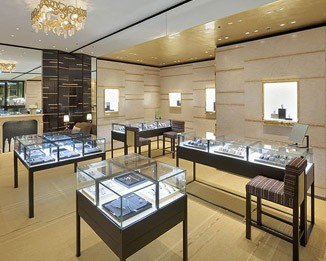 JE166 Luxury Jewelry Store Display Cabinets