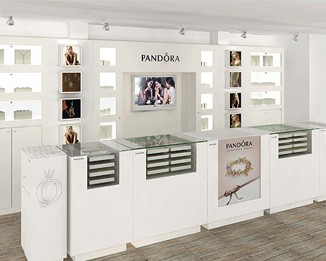 JE160 White Pandora Jewelry Display Cases