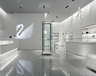 JE138 White Crystal Jewelry Shop Design