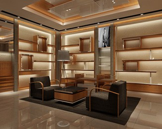CL57 Luxury Clothing Store Display Cabinet