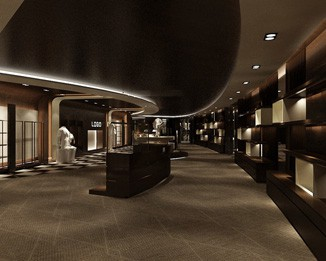 CL45 Luxury Clothing Shop Display Design