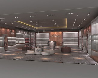 CL41 Luxury Clothing Showroom Display Design