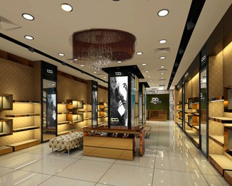 SH02 High End Shoe Store Wall Display Fixtures