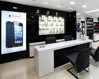 EL55 High End Cell Phone Store Fixture Design