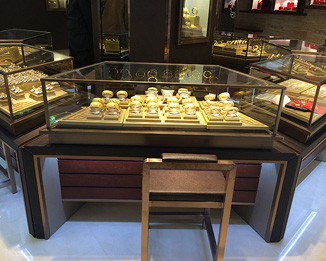 JE134 Luxury Gold Display Counters