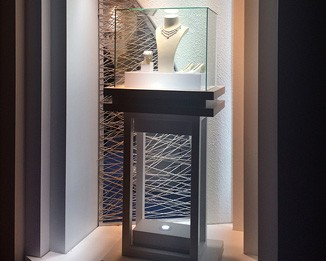 JE128 Premium Jewelry Tower Display Showcase
