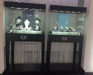 JE121 Black Jewelry Store Display Showcase