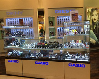 WA50 High End Mall Watch Kiosk Design