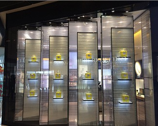 PE21 High End Perfume Shop Wall Showcase Cabinet