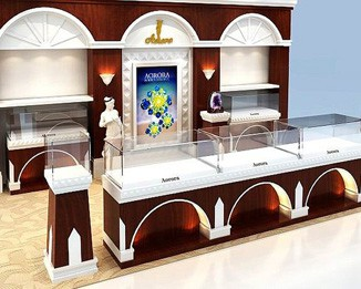JE101 Wooden Jewelry Shop Display Counter