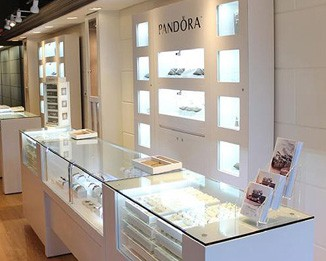 JE79 Pandora White Jewelry Counters