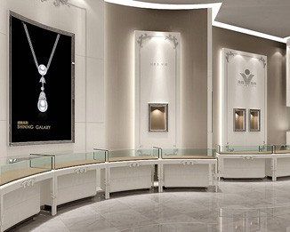 JE76 Exquisite Jewelry Showroom Counter Design