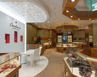 Luxury custom commercial retail display environment for Jewelry stores in dfw area