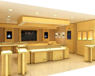 JE53 Luxury Custom Jewelry Store Showcase