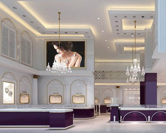 JE30 Luxury Jewelry Showroom Design