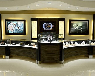 WA14 High End Watch Shop Counter Displays