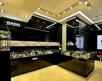 WA02 Innovative Glossy Watch Shop Design