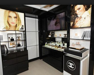 PE19 Luxury Store Perfume Wall Showcase Designs