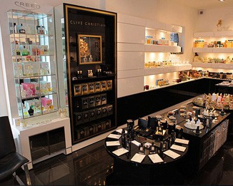 PE03 Luxury Perfume Shop Wall Showcase Design
