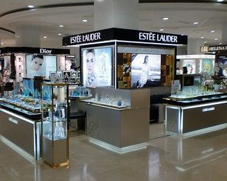 PE01 High End Shopping Mall Perfume Kiosk Design