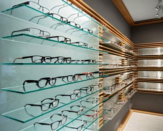 OP36 Wooden Glass Optical Shop Furniture