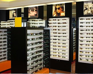OP20 Black Eyewear Store Displays