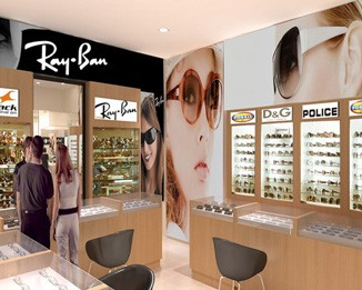 OP09 High End Eyeglass Store Display Design