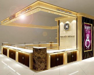 MK39 Luxury Jewelry Shopping Mall Kiosk Design
