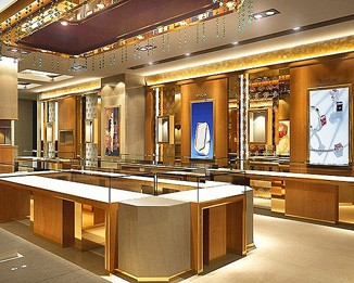 MK27 High End New Gold Jewelry Showroom Kiosk