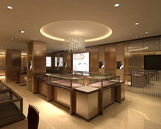 MK20 High End Jewelry Shop Kiosk Design