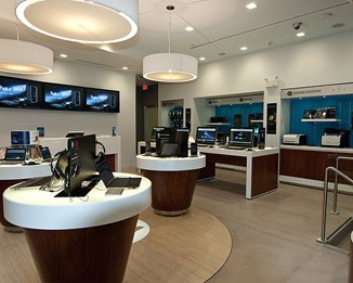 EL24 High End Laptop Retail Showcases And Counters