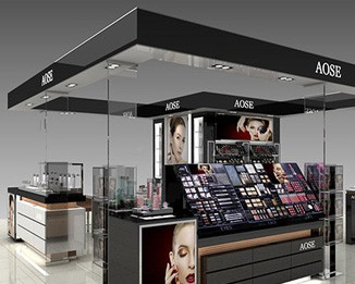 CM81 Cosmetic Shopping Mall Display Kiosk
