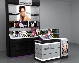 CM30 Cosmetic Shop Display Rack And Counter