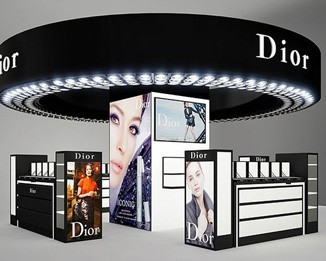 CM10 Round Cosmetic Mall Display Kiosk