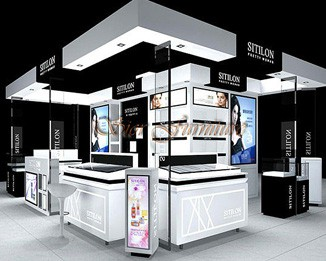 CM09 Creative Mall Kiosk For Cosmetics