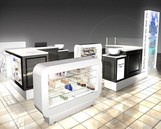 CM08 High End Cosmetic Mall Kiosk Manufactuer