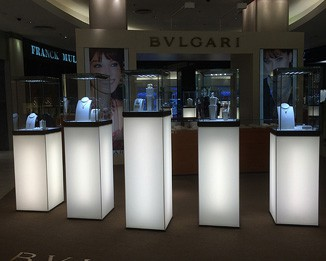 JE137 LED Jewelry Tower Display Showcase