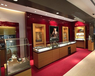 WA44 Glass Cartier Watch Showcase Displays