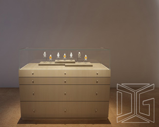 DC28 New Custom Design Jewelry Counter Cabinet