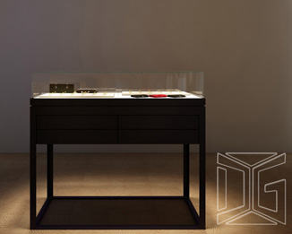 DC15 High End Stainless Steel Sit Down Jewelry Case
