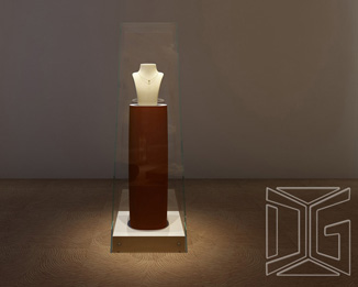 High End Upright Jewelry Display Square Pedestal