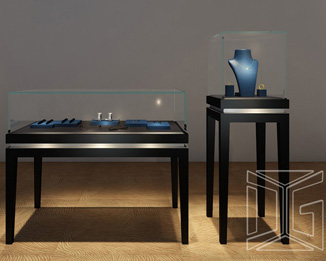 Luxury Customized Jewelry Display Cases With Lights