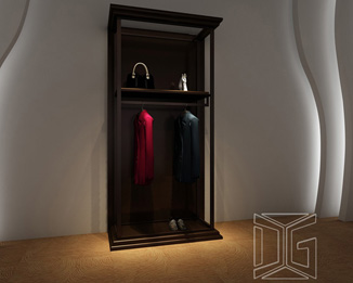 DC06 Wall Mount Black Display Racks For Clothing
