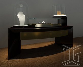 Counter Top Sit Down Jewelry Display Table