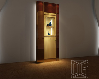 PE03 Free Custom Design Wall Mounted Luxury Jewelry Display Cases